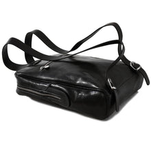 Load image into Gallery viewer, leather backpack floto black bottom
