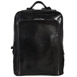 Floto Italian leather backpack knapsack shoulder bag milano black