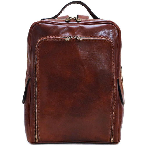 Floto Italian leather backpack knapsack shoulder bag milano brown