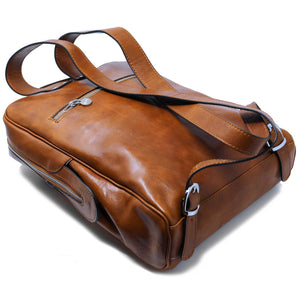 Leather Briefcase Floto Milano Monogram brown olive 3