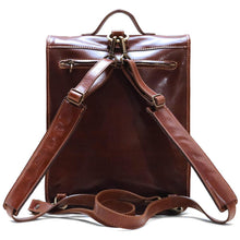 Load image into Gallery viewer, Leather Backpack Floto Poste Knapsack