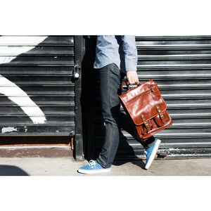 leather backpack floto poste