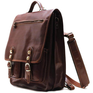 Leather Backpack Floto Poste Knapsack