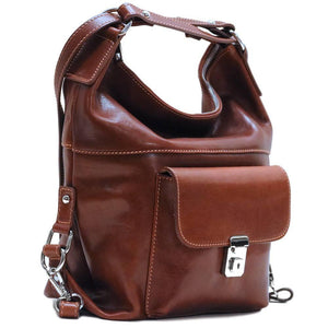 4-way leather backpack floto procida