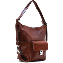 Load image into Gallery viewer, 4-way leather backpack floto procida