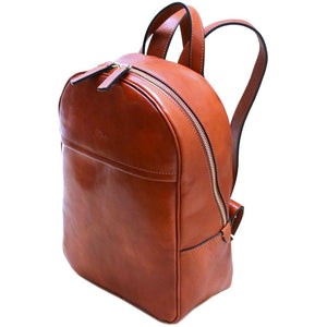Leather Backpack Floto Siena brown angle