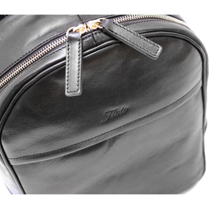 Leather Backpack Floto Siena close