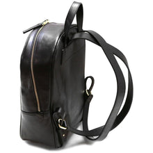 Load image into Gallery viewer, Leather Backpack Floto Siena black side