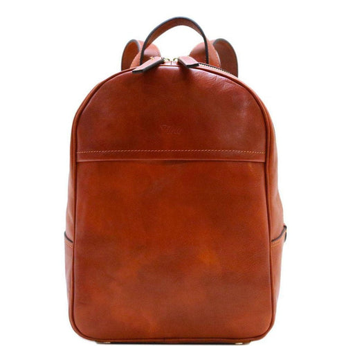 Floto Italian Leather Backpack Knapsack Siena brown