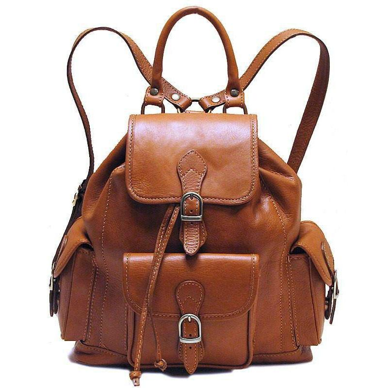 Floto Italian Leather Backpack Toscana satchel brown