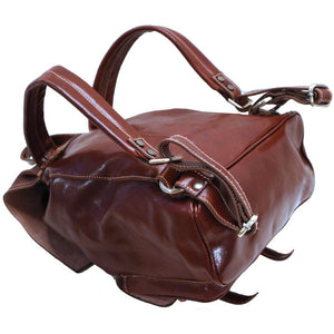 Leather Backpack Trastevere Brown 2