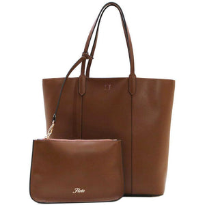 Leather Tote Bag Ischia Floto brown monogram