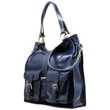 Load image into Gallery viewer, Floto Italian Leather Shoulder Tote Bag Women's Livorno blue 2