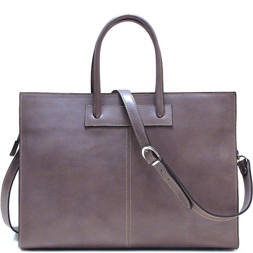 Floto Italian Leather Shoulder Bag Women's Monteverde Handbag grey