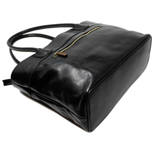 Floto Italian Leather Napoli Women's Handbag Shoulder Bag black 2