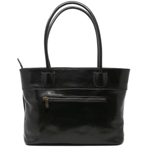Floto Italian Leather Napoli Women's Handbag Shoulder Bag black