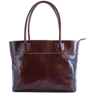 Floto Italian Leather Napoli Women's Handbag Shoulder Bag brown 2