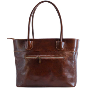 Floto Italian Leather Napoli Women's Handbag Shoulder Bag brown