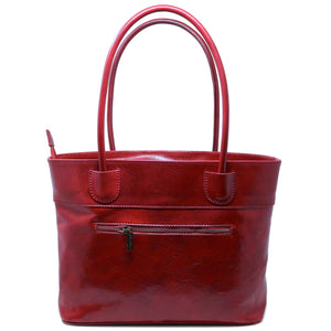 Floto Italian Leather Napoli Women's Handbag Shoulder Bag red