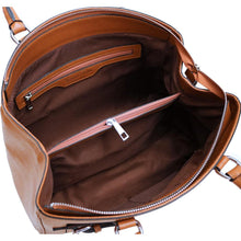 Load image into Gallery viewer, Leather Handbag Floto Rapallo Bag inside