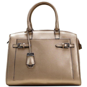Italian Leather Handbag Floto Rapallo Bag gold