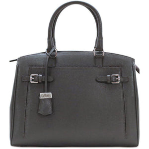 Leather Handbag Floto Rapallo Bag Grey