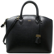 Load image into Gallery viewer, Floto Italian Leather Handbag Women's Tote Bag Romana black monogram
