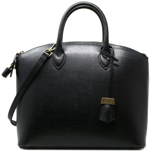 Floto Italian Leather Handbag Women's Tote Bag Romana black