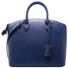 Load image into Gallery viewer, Floto Italian Leather Handbag Women's Tote Bag Romana blue