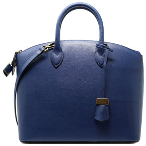 Floto Italian Leather Handbag Women's Tote Bag Romana blue