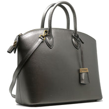 Load image into Gallery viewer, Floto Italian Leather Handbag Women's Tote Bag Romana silver side