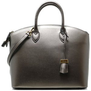 Floto Italian Leather Handbag Women's Tote Bag Romana silver