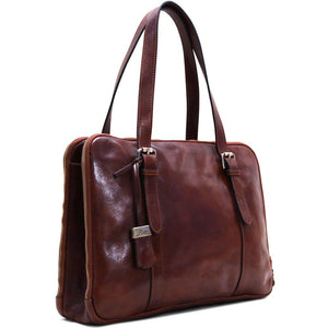 Womens Leather Business Tote Work Laptop Bag Salerno 2
