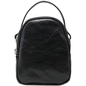 Floto Italian leather mini handbag crossbody shoulder bag siena black
