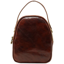 Load image into Gallery viewer, Floto Italian leather mini handbag crossbody shoulder bag siena brown