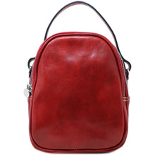 Load image into Gallery viewer, Floto Italian leather mini handbag crossbody shoulder bag siena red