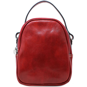 Floto Italian leather mini handbag crossbody shoulder bag siena red