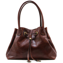 Load image into Gallery viewer, Floto Italian Leather Women's Handbag Shoulder Bag Sorrento brown