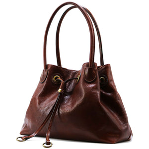 Floto Italian Leather Women's Handbag Shoulder Bag Sorrento 2