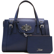 Load image into Gallery viewer, Floto Leather Tavani Handbag Cross Body blue