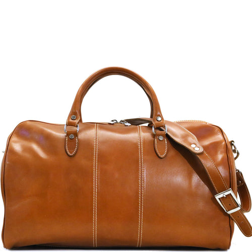 Floto Italian Leather Duffle Bag Venezia in Tempesti Brown 1