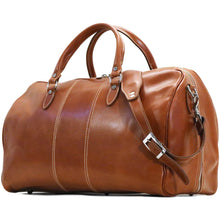 Load image into Gallery viewer, Floto Italian Leather Duffle Bag Venezia in Tempesti Brown monogram 2