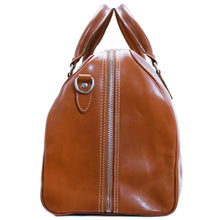 Load image into Gallery viewer, Floto Italian Leather Duffle Bag Venezia in Tempesti Brown monogram 3