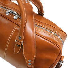 Load image into Gallery viewer, Floto Italian Leather Duffle Bag Venezia in Tempesti Brown monogram 5