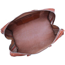 Load image into Gallery viewer, Leather Duffle Bag Venezia in Tempesti Brown 6