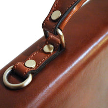 Load image into Gallery viewer, leather briefcase floto ponza brown