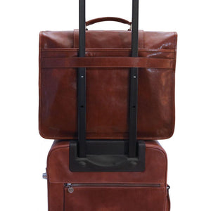 Leather English Briefcase Messenger Bag Floto Firenze trolley