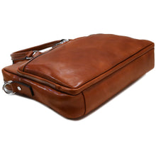 Load image into Gallery viewer, Leather Messenger Bag Laptop Briefcase Avelo olive bottom