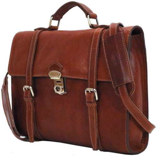 Floto Roma leather backpack briefcase messenger bag