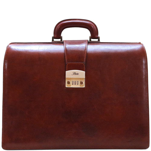 leather briefcase floto ciabatta combination lock
